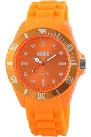 QBOS Herren-Armbanduhr XL Analog Quarz Silikon RP3468590004