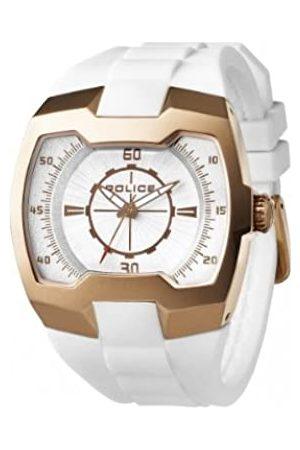 Police – PL. 13452jsr-04 – Armbanduhr – Quarz Analog – Weißes Ziffernblatt – Armband Silikon