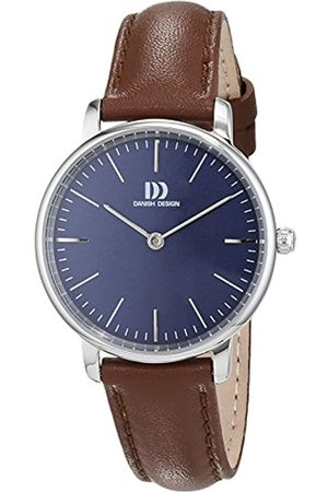 Danish Design Damen Analog Quarz Uhr mit Leder Armband 3324602