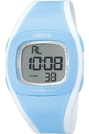 Lorus Damen Uhren - Damen-Armbanduhr Fashion Digital Quarz Kautschuk R2375GX9
