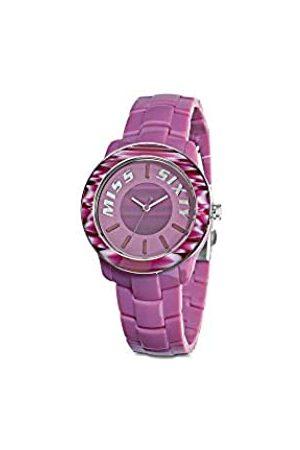 Miss Sixty Damen Analog Quarz Uhr mit Resin Armband R0753122502_ROSA