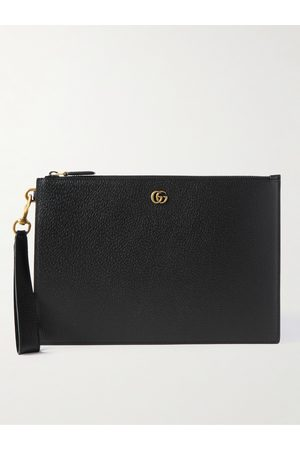 GUCCI GG Marmont Full-Grain Leather Pouch