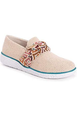 MUK LUKS Damen Boardwalk Stroll Sneaker-Taupe Slipper