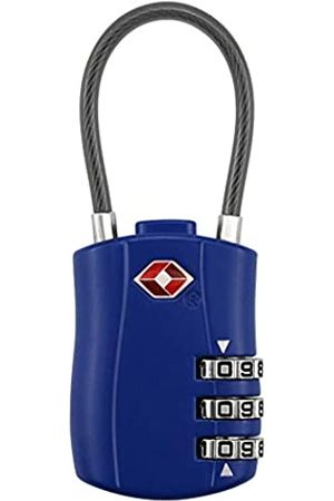 N/T TSA-zugelassene Gepäckschlösser, Kombinationskabelschloss, 3-stellige Kombination, Vorhängeschloss mit Legierungskörper für Reisetasche, Fitnessstudio, Gepäck, Reisen, Haustüre, Koffer, Rucksack, Schule