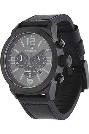 TW steel Herren Chronograph Quarz Uhr mit Leder Armband TWMC18