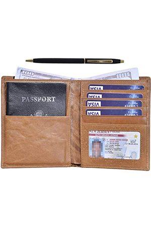 Outrip Herren Reisetaschen - RFID-blockierende Reisepasshülle aus Leder für Damen und Herren - - Large