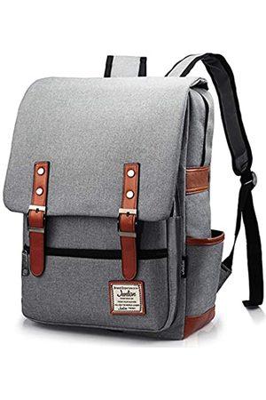 Junlion Retro Laptop Rucksack Geschenk für Frauen und Männer, Schul-Fitness-Rucksack Slim Rucksack passt 15