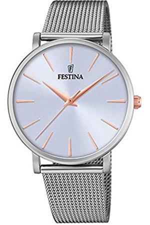 Festina Damen Uhren - Damen Analog Quarz Uhr mit Edelstahl Armband F20475/3
