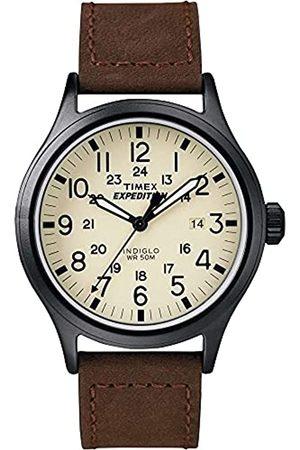 Timex Herren Analog Quarz mit Leder Armband T49963