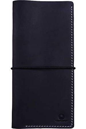 Genuines Lange Reisebrieftasche aus Leder - Boarding Pass Halter mit Gurt