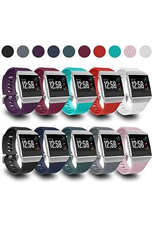 AIUNIT Kompatibel mit Fitbit-Ionic-Bändern für Herren, Damen, Teenager, Kinder, klein, mit silberfarbener Schnalle, Ersatz-Armband, Sport-Accessoire