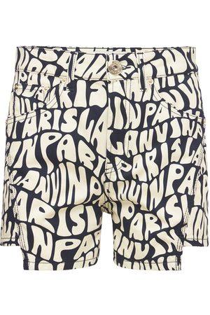 LANVIN Shorts Aus Baumwolldenim Mit Logodruck