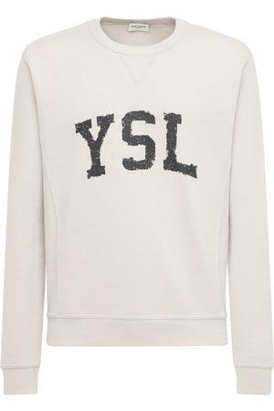 Saint Laurent Herren Sweatshirts - Sweatshirt Aus Baumwolle Mit Logodruck