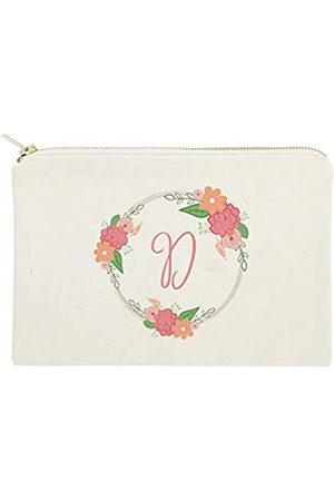 The Cotton & Canvas Co. Personalisierte farbige Monogramm-Kosmetiktasche und Reise-Make-up-Tasche