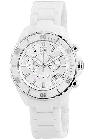 Cerruti 1881 Herren Uhren - Cerruti Herren Analog Quarz Uhr mit Keramik Armband CRA077Z251H