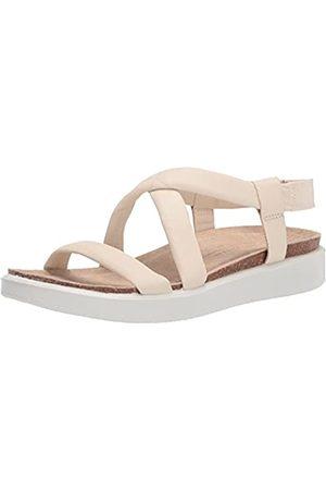 Ecco Damen Corksphere Ankle Sandale, - Limestone