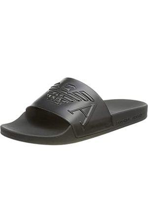 Emporio Armani Damen Swimwear Slipper Monogram Slide Sandal+Marine+Marine