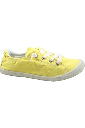 Generic FZ-Comfort-01 Damen Süße Komfort Slip On Flache Ferse Runde Zehen Sneaker Schuhe, Gelb (senffarben)