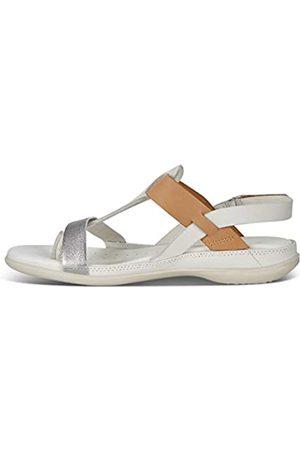 Ecco Damen Flash Toe-Post Sandale, Alu Silver/Shadow White/Lion
