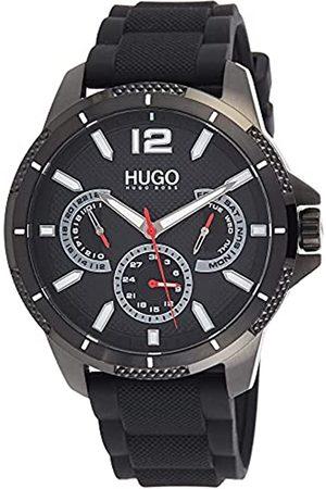 HUGO BOSS Herren Analog Quarz Uhr mit Silicone Armband 1530193