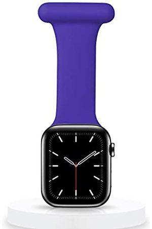 Veezoom Kompatibel mit Apple Watch Armband 38 mm/40 mm, 42/44 mm, Silikon Pin Fob für Krankenschwestern, Hebammen, Ärzte, Sanitäter, Infektionskontrolle