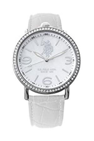 Ralph Lauren Herren Analog Quarz (Japanisch) Uhr mit Leder Armband USP5224WH_WH