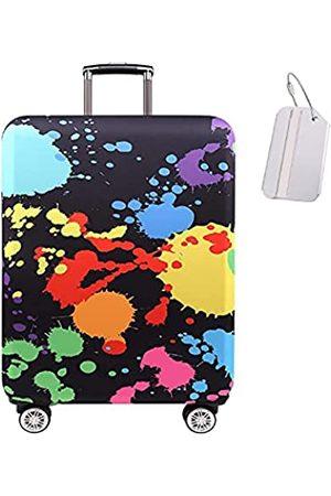 TOTATNON Gepäckabdeckung Reisekofferschutz waschbar staubdicht kratzfest Gepäckabdeckung mit Kofferanhänger