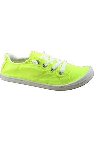 Generic Soda Zig-s Damen Causal Flacher Absatz Slip On Lace Up Look Sneaker Schuhe
