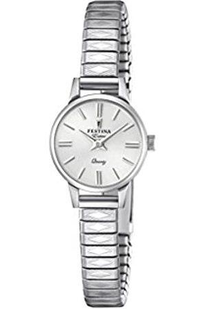 Festina Damen Analog Quarz Uhr mit Edelstahl Armband F20262/1