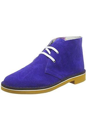 Pollini Damen SCA.NOD.MICRO20BI/OC Crosta Desert Boots, (705 Bluette Cow Suede White-Ochre Micro Sole)