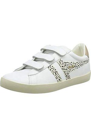 Gola Damen Nova Velcro Safari Sneaker, White/Cheetah/Nude