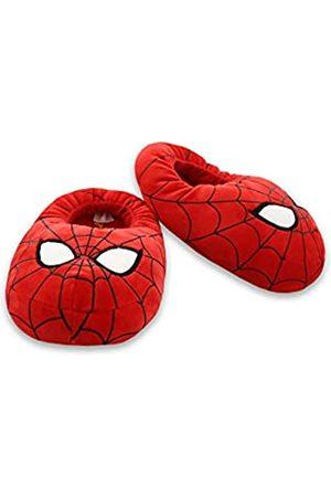 Marvel Avengers Spider-Man Kids Plush Mooshy Slippers (11-12 M US Little Kid)