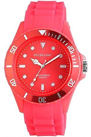 Excellanc Unisex Analog Quarz Uhr mit Kautschuk Armband 224925500004