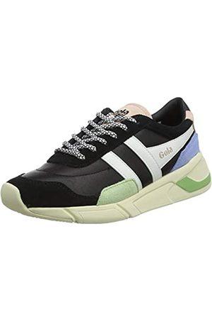 Gola Damen Eclipse Trident Sneaker, Black/Patina Green/Vista Blue