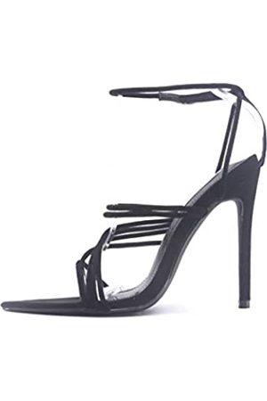 Cape Robbin Marshmallow Sexy Stiletto High Heels für Damen, Riemchen, spitz, offener Zehenbereich