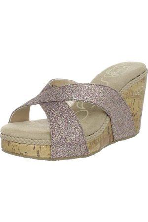 Sugar Florah Damen Sandalen mit Keilabsatz, Mehrere (Multi Glitter)