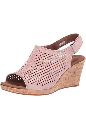 Rockport Briah PERF Damen-Sandalen mit Keilabsatz, Pink ( -metallic)