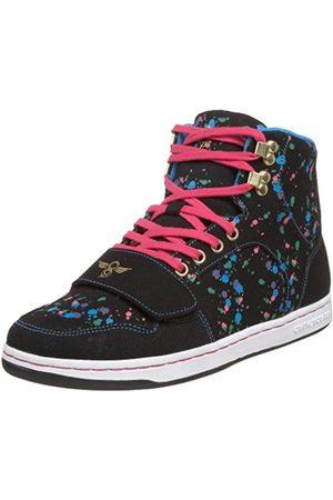 Creative Recreation Cesario Damen-Sneaker mit hohem Schaft, Schwarz (Schwarzer Spritzer)