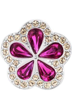 Swarovski Damen-Charm Metall Kristall Tropical Flower Clip 1.65 x 1.65 cm 5002678