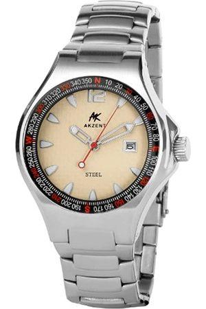 Akzent Herren-Uhren mit Edelstahlband 285422300001