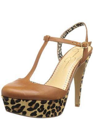 Jessica Simpson Footwear Damen Byra Plateau Pumps, Braun (Burnt Ember Juba Kalb)