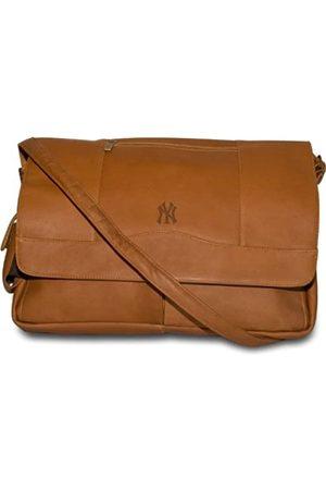 Pangea Brands MLB Laptop-Umhängetasche, Leder, Hellbraun, Herren