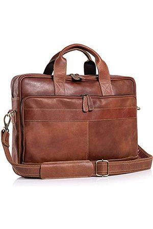 Komal's Passion Leather Aktentasche aus Leder, 45,7 cm (18 Zoll), für Damen und Herren, für Büro, Schule, Uni, Aktentasche, Umhängetasche