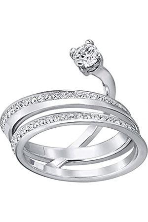 Swarovski Damen-Ring Platiniert Kristall transparent Rundschliff 5257538