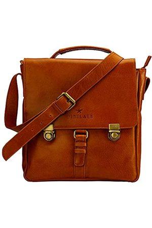 FINELAER Herren Vintage Echtleder Crossover Crossbody Tasche, Braun (Rost)