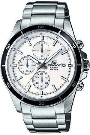 Casio Edifice Herren Armbanduhr mit weißem Zifferblatt Analog-Anzeige und Edelstahl Armband efr-526d-7avuef