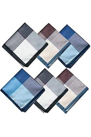 LACS Herren-Taschentücher aus Baumwolle, kariert, weich, Geschenk-Set