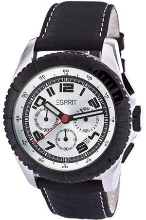Esprit Herren-Armbanduhr XL Moto White Lb Chronograph Quarz Leder ES101891008