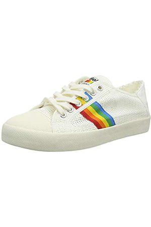 Gola Damen Coaster Rainbow Weave Sneaker, Pearl Pink/Multi