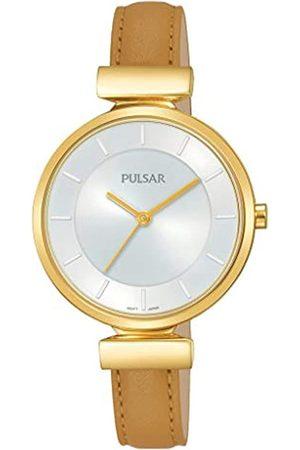 Pulsar Quarz Damen-Uhr Edelstahl mit Lederband PH8416X1